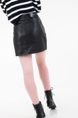 Sijonas LEATHER MOTO SKIRT-3
