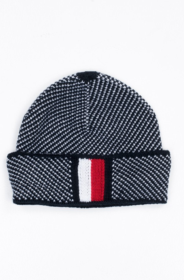 CORPORATE INTARSIA BEANIE-hover