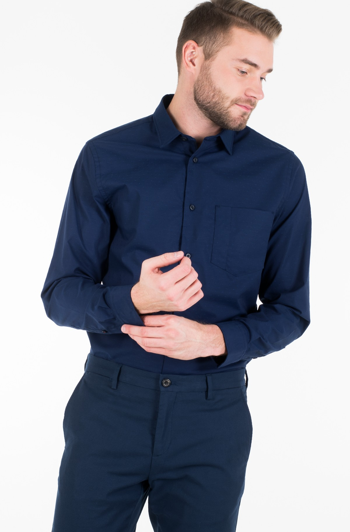 Shirt FLEX INDIGO FEEL DOBBY SHIRT-full-2