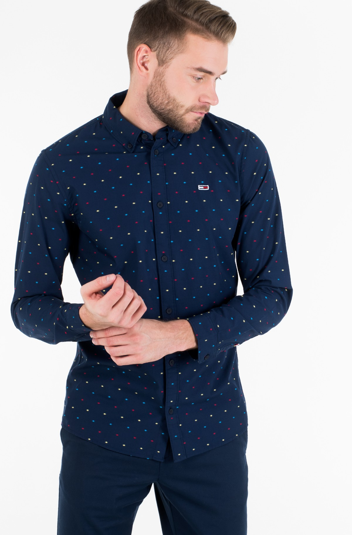 Marškiniai TJM COLORED DOBBY POPLIN SHIRT-full-2