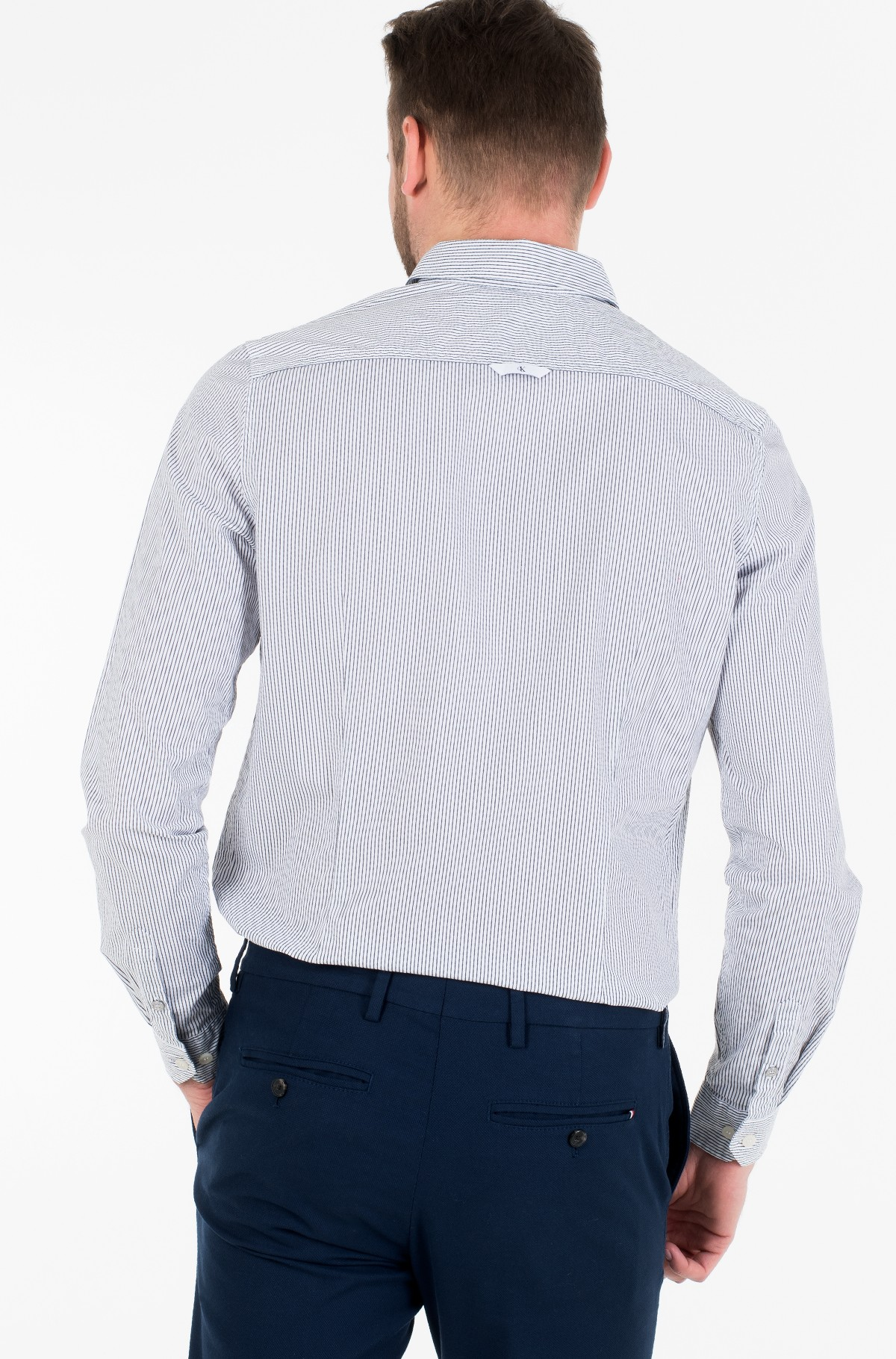 Triiksärk SLIM STRETCH STRIPE PKT SHIRT-full-3