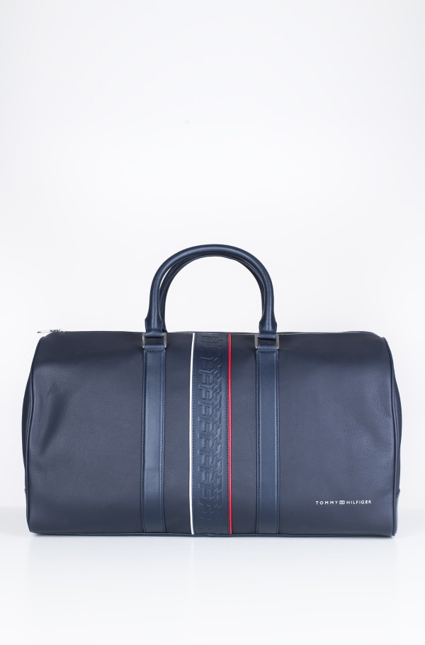 LEATHER DUFFLE STRIPE