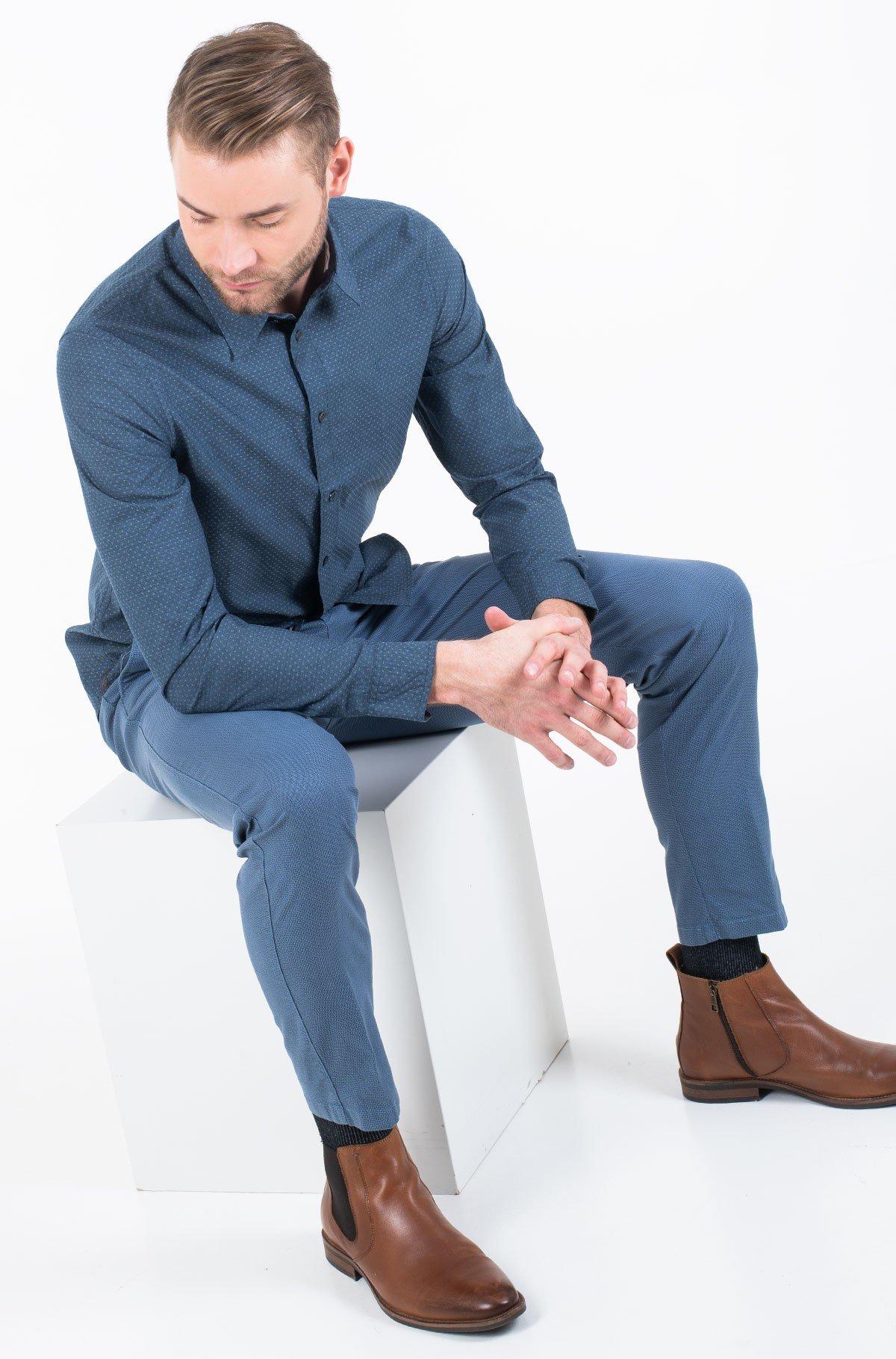 Shirt DOBBY SLIM STRETCH SHIRT-full-1