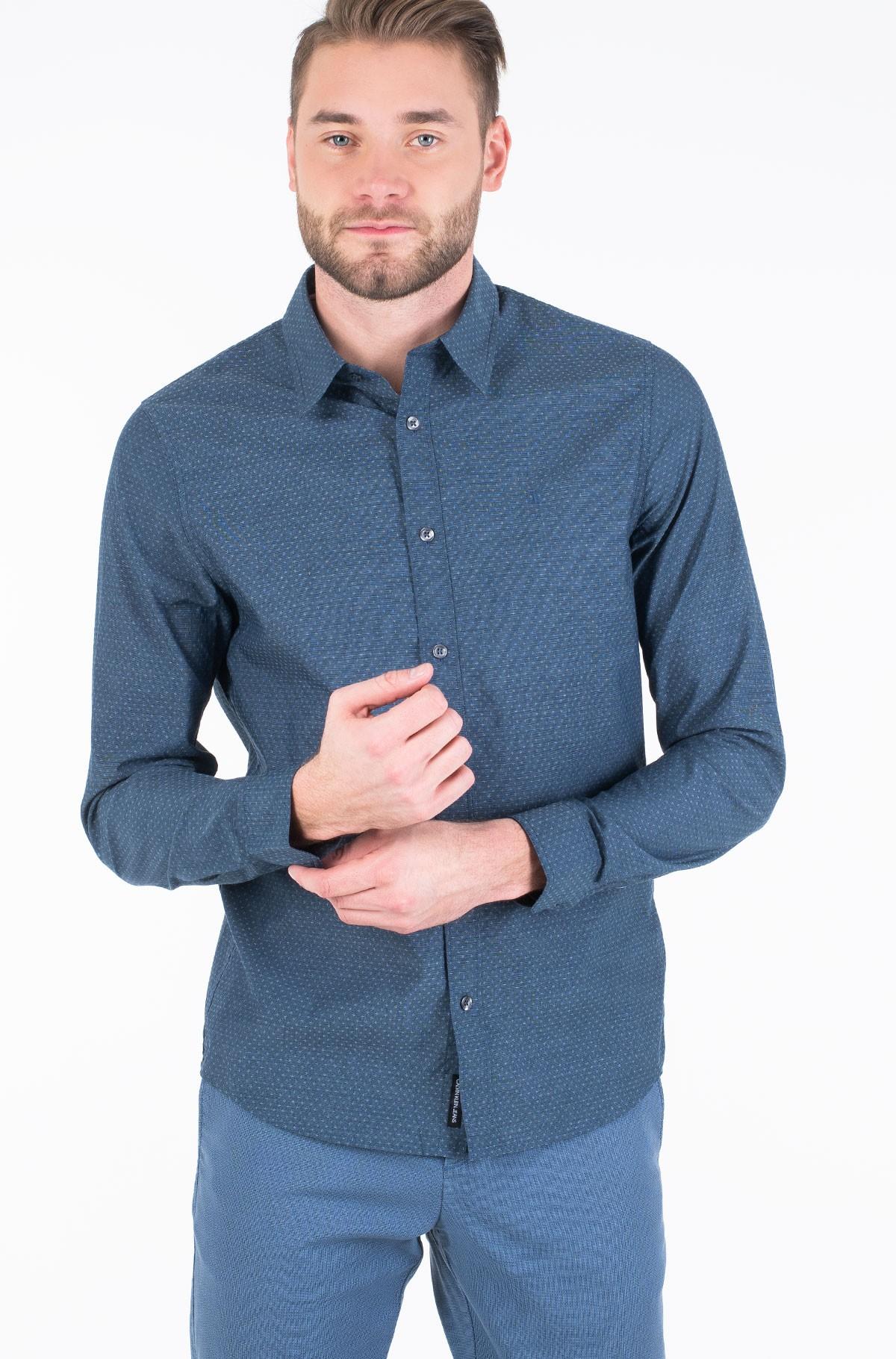 Shirt DOBBY SLIM STRETCH SHIRT-full-2