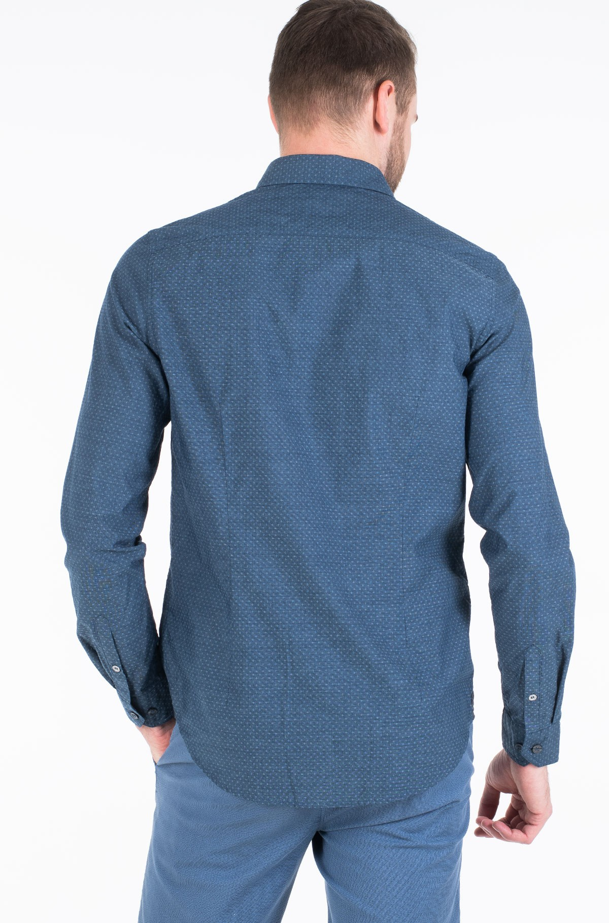 Shirt DOBBY SLIM STRETCH SHIRT-full-3