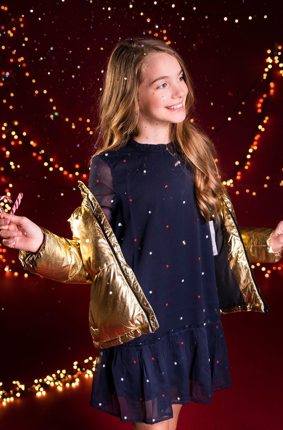 Vaikiška suknelė STAR EMBROIDERED DRESS-full-2