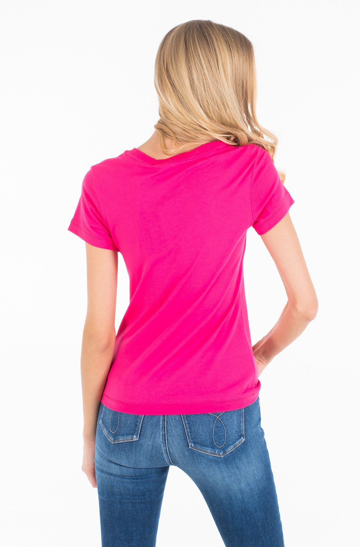 Marškinėliai CK EMBROIDERY SLIM TEE-full-3