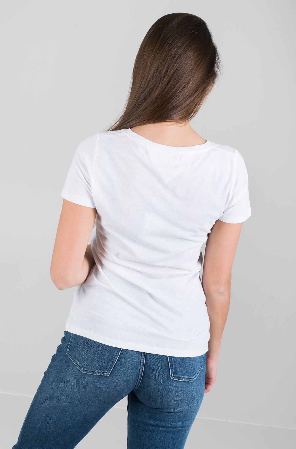 Marškinėliai TJW ESSENTIAL V-NECK LOGO TEE-full-3
