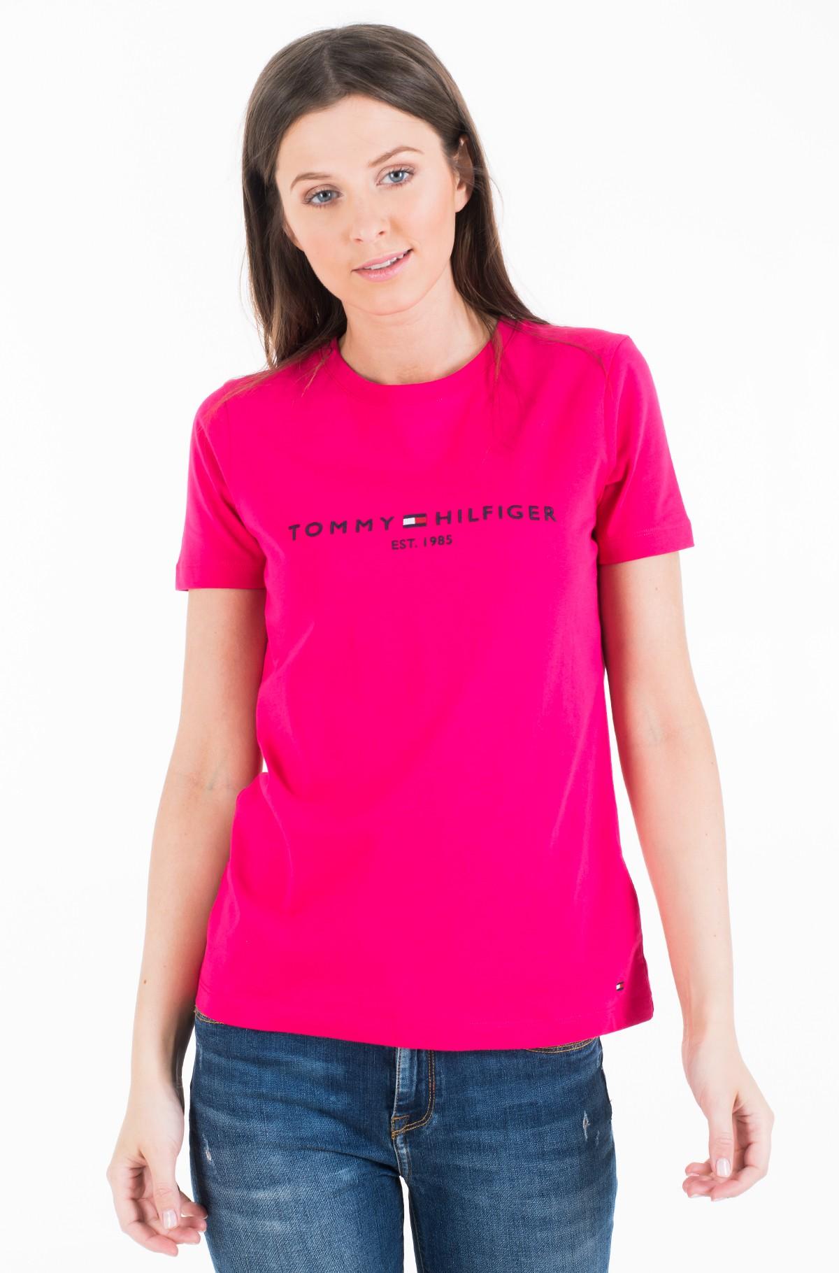 Marškinėliai NEW TH ESS HILFIGER C-NK TEE SS-full-2