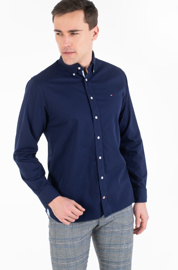 STRETCH TWILL SHIRT-hover