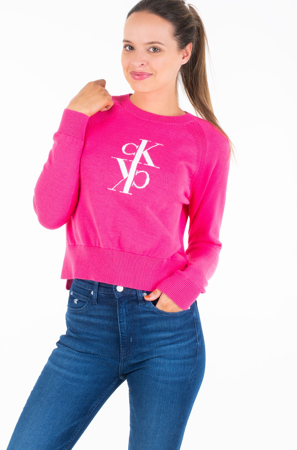 Sweater MIRRORED MONOGRAM COTTON SWEATER	-full-1