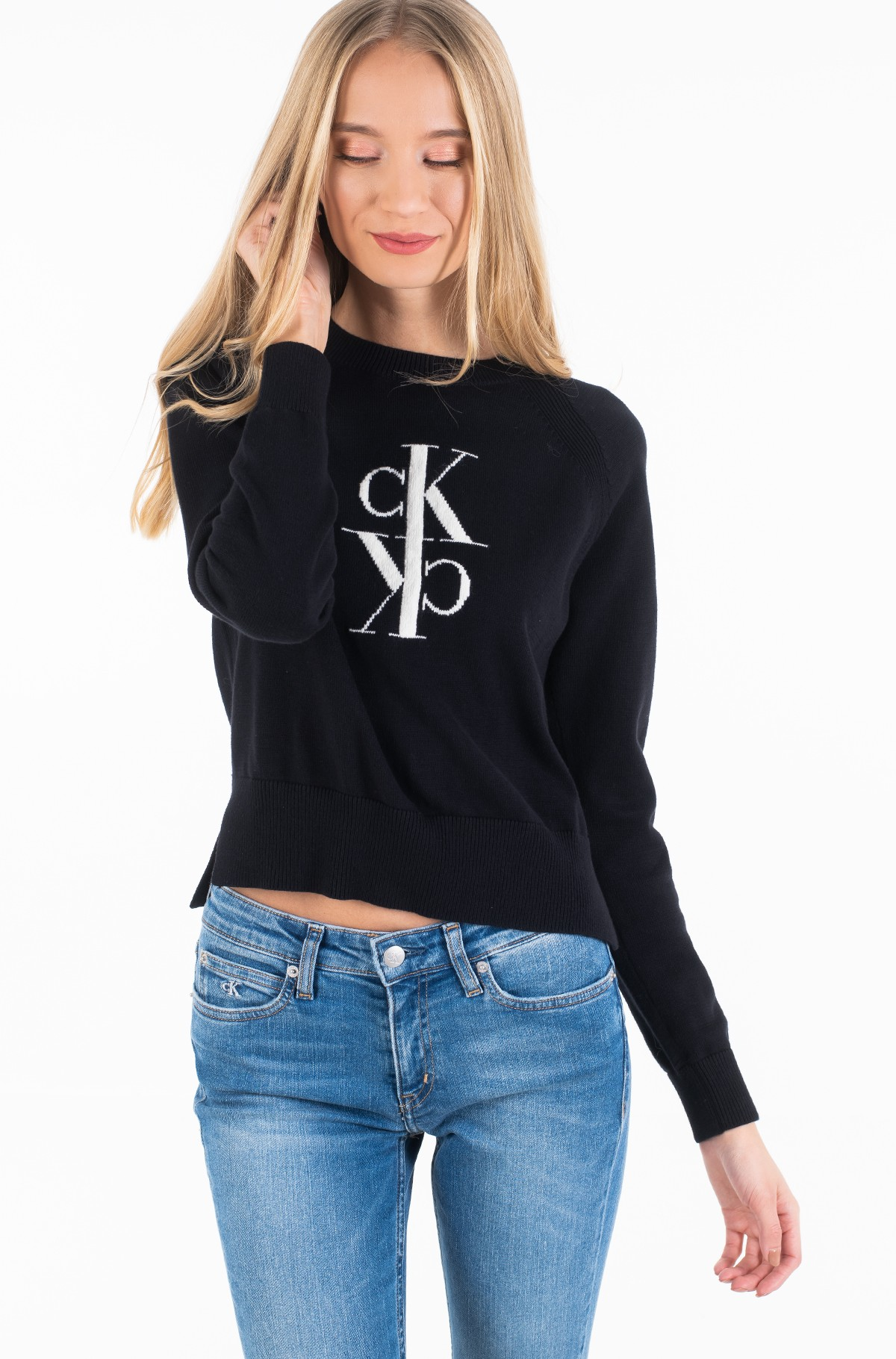 Megztinis MIRRORED MONOGRAM COTTON SWEATER	-full-2