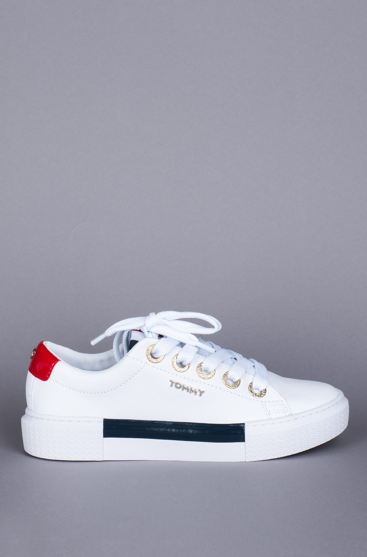 Sportiniai drabužiai LEATHER ELEVATED TOMMY SNEAKER-full-1