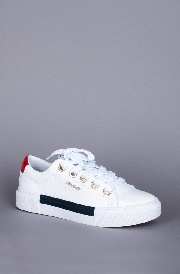 LEATHER ELEVATED TOMMY SNEAKER-hover