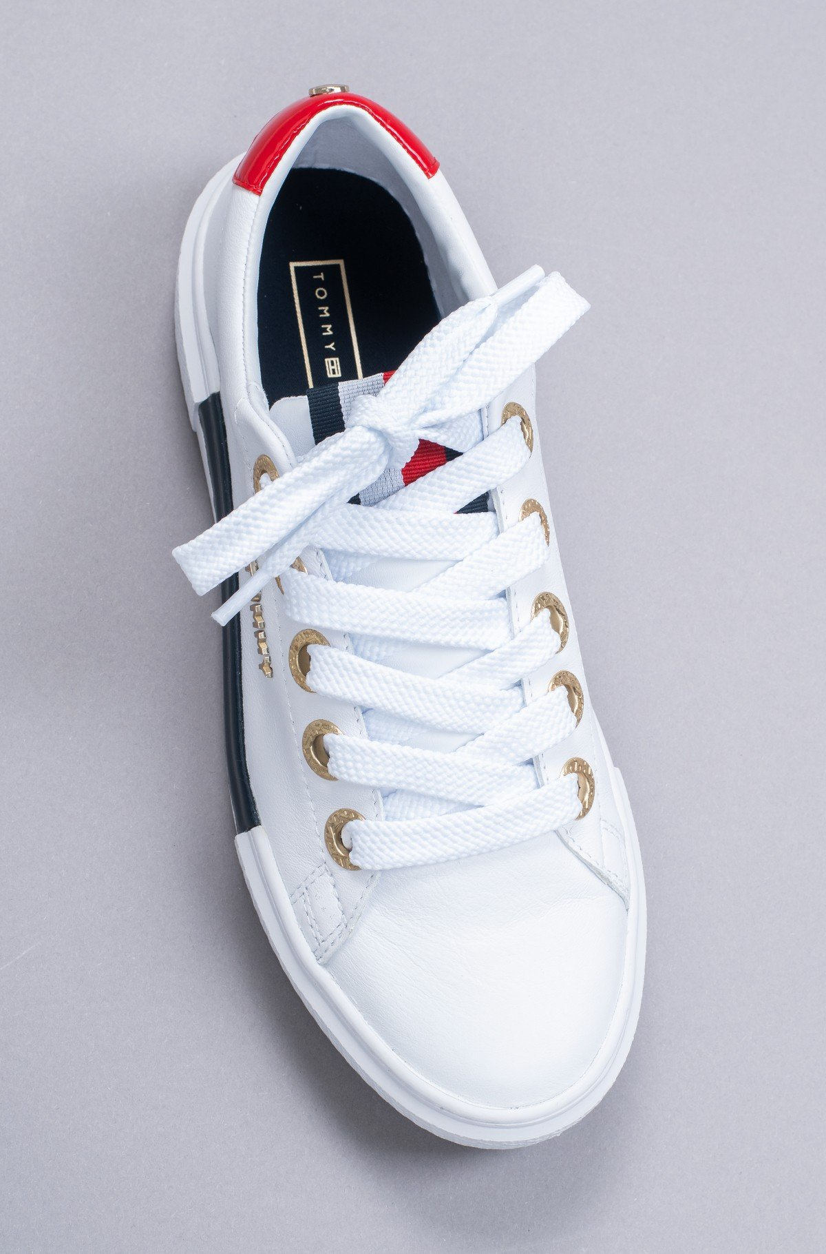 Sportiniai drabužiai LEATHER ELEVATED TOMMY SNEAKER-full-4