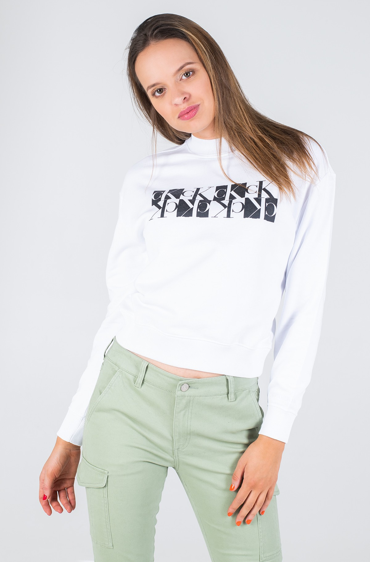 Džemperis MIRRORED MONOGRAM CREW NECK-full-1