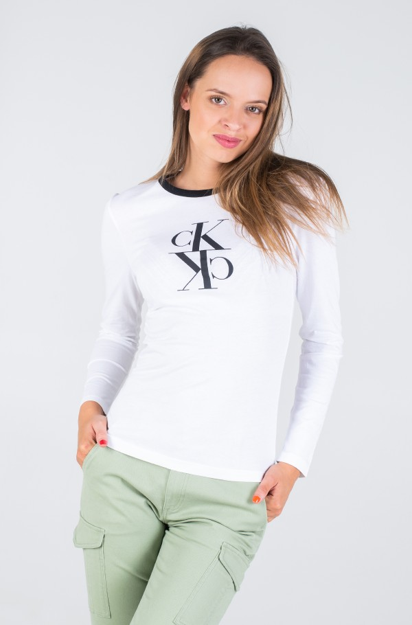 MIRRORED MONOGRAM LS RINGER TEE