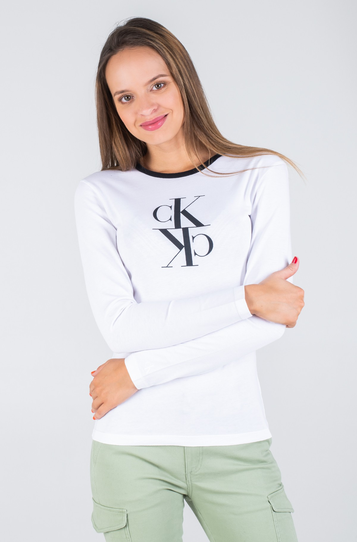 Long sleeved t-shirt MIRRORED MONOGRAM LS RINGER TEE-full-2