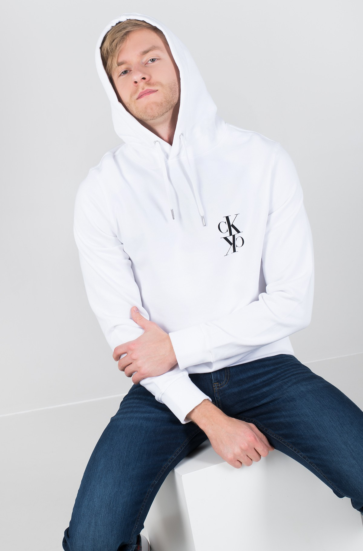 Džemperis BACK MIRRORED MONOGRAM HOODIE-full-1
