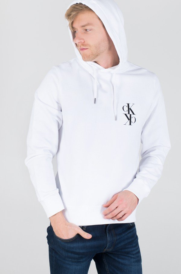 BACK MIRRORED MONOGRAM HOODIE-hover