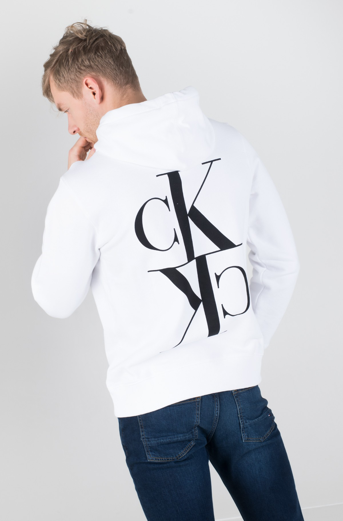 Džemperis BACK MIRRORED MONOGRAM HOODIE-full-4
