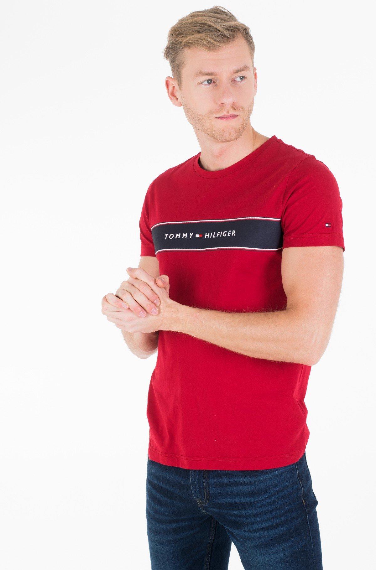 Marškinėliai LOGO CHEST STRIPE TEE-full-1