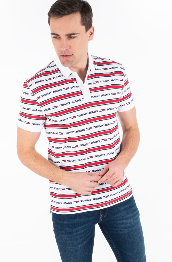 TJM BRANDED STRIPE POLO