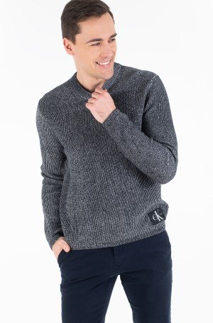 Sweater TWO TONE COTTON CN SWEATER-1