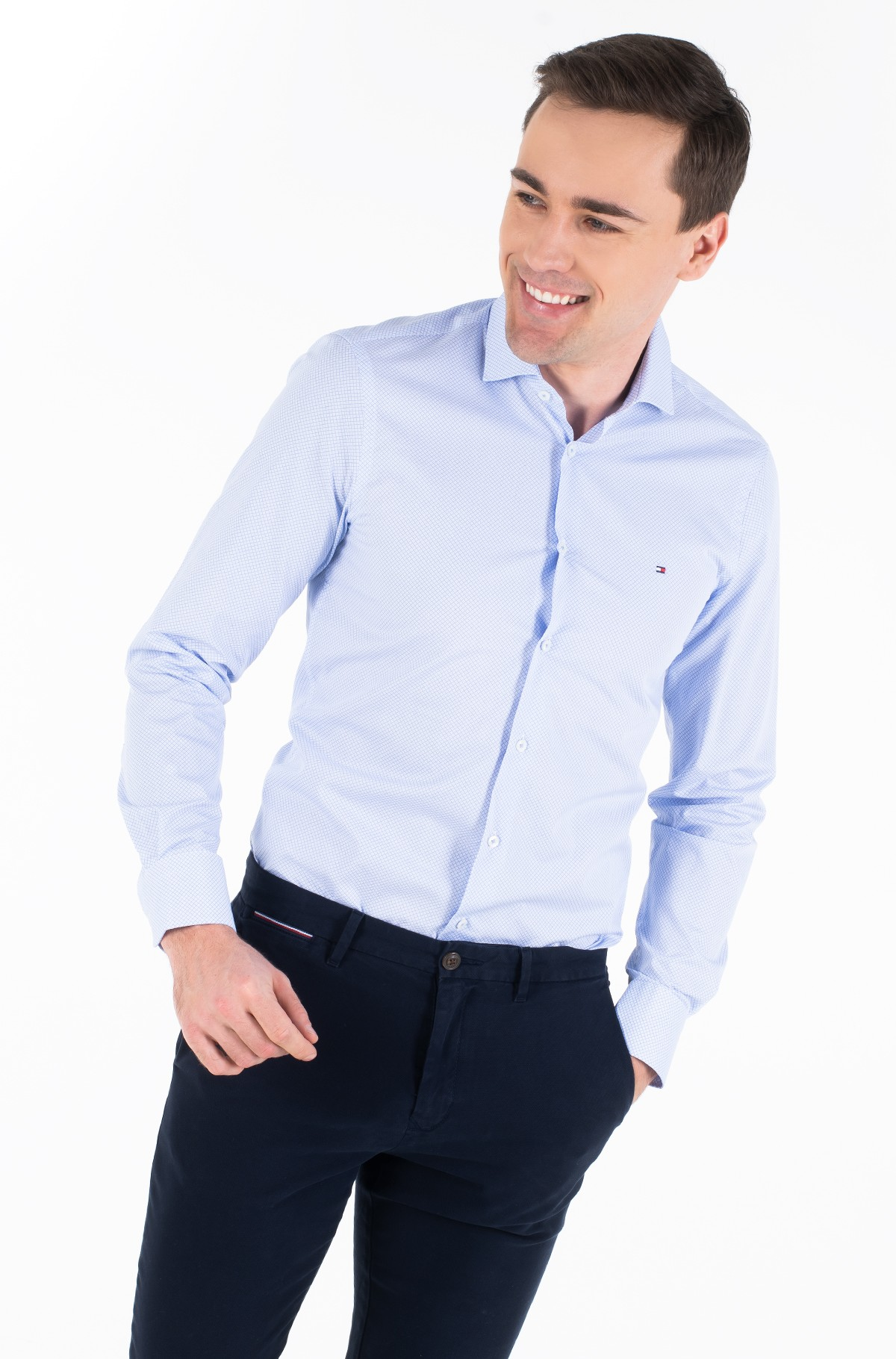 Shirt MICRO PRINT CLASSIC SLIM SHIRT-full-1