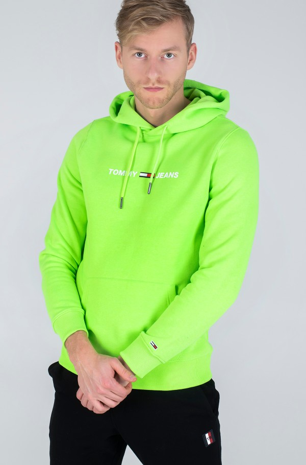 TJM NEON SMALL LOGO HOODIE-hover