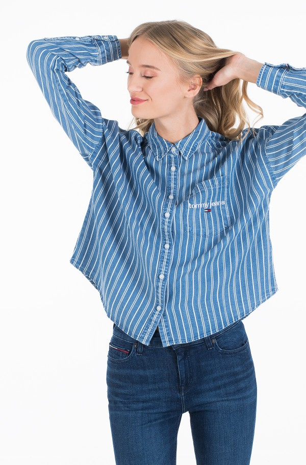 TJW CROPPED BOXY STRIPE SHIRT