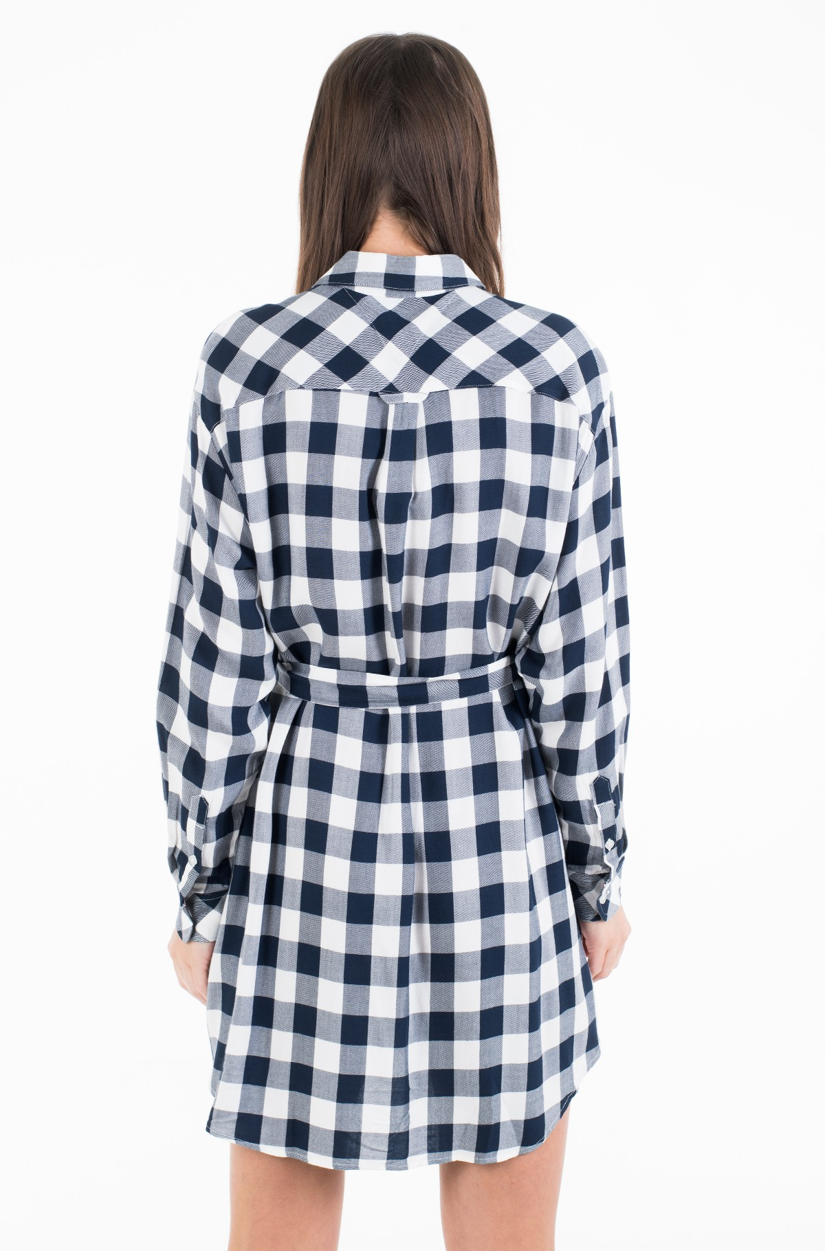 Suknelė TJW BELTED CHECK SHIRT DRESS-full-3