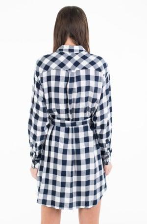 Suknelė TJW BELTED CHECK SHIRT DRESS-3