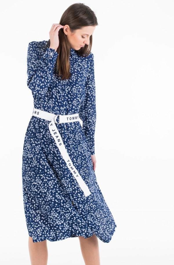 TJW PRINT MIX SHIRT DRESS