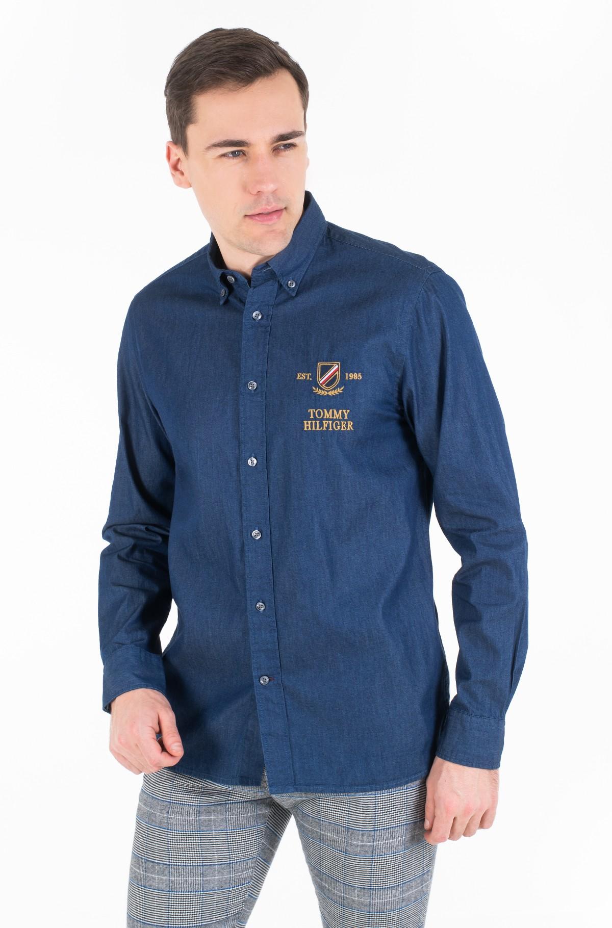 Džinsiniai marškiniai DENIM EMBROIDERY SHIRT-full-1