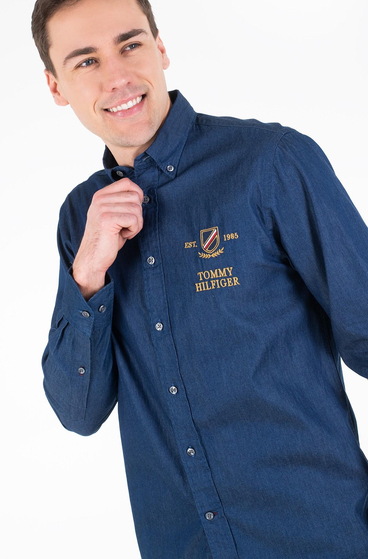 Džinsiniai marškiniai DENIM EMBROIDERY SHIRT-full-2