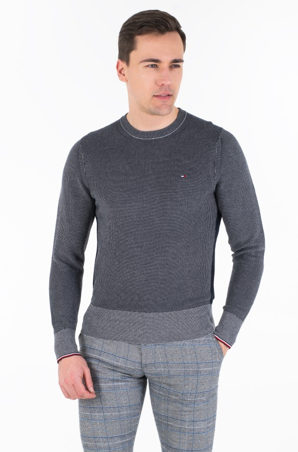 TWO COLOR STRUCTURE SWEATER-hover