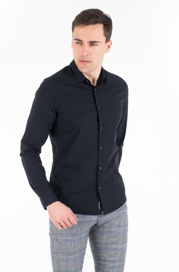 CK CHEST LOGO SLIM STRETCH SHIRT-hover