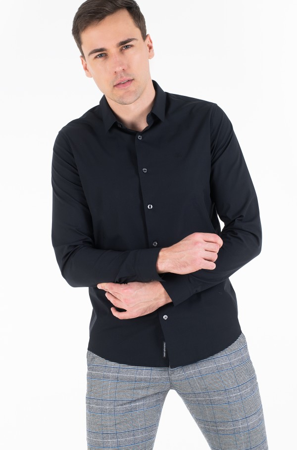CK CHEST LOGO SLIM STRETCH SHIRT