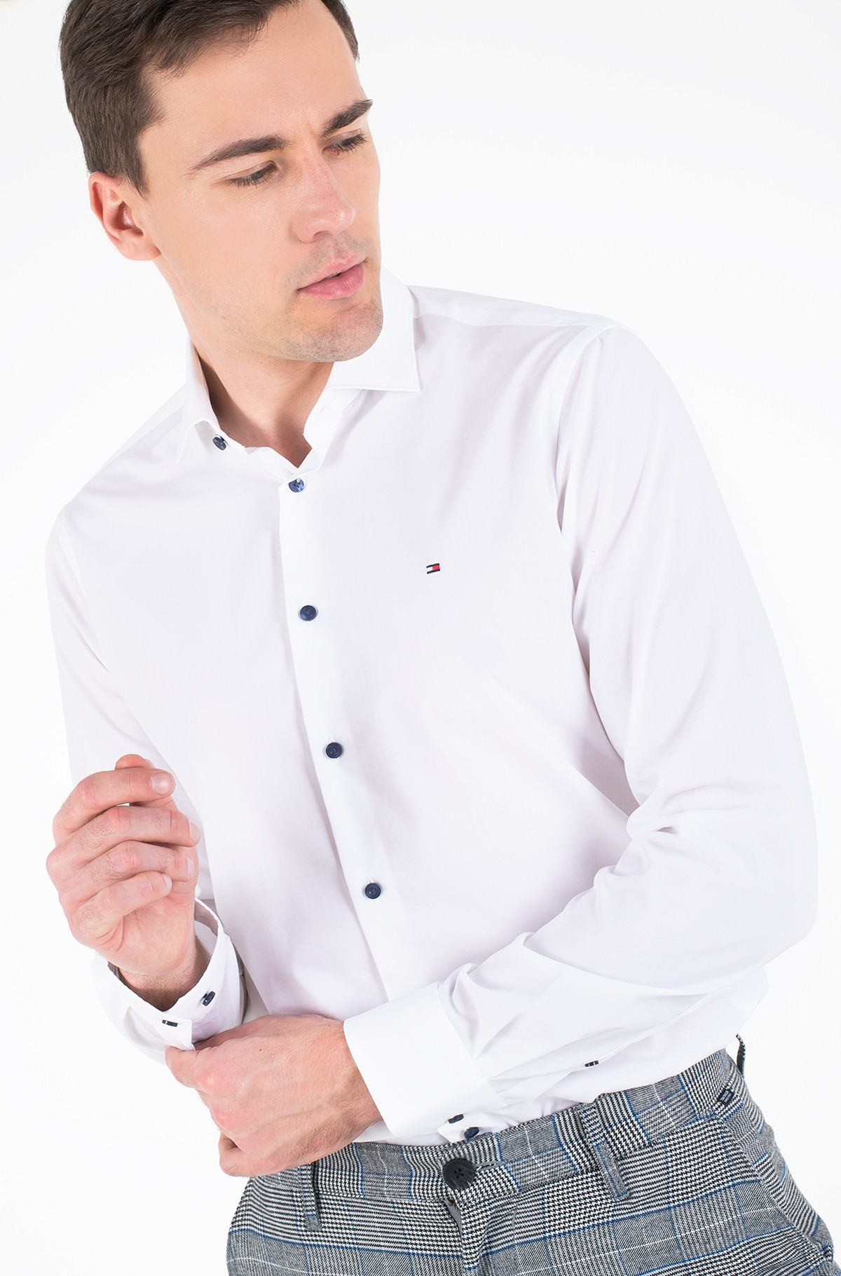 Triiksärk STRETCH CLASSIC SLIM SHIRT-full-2