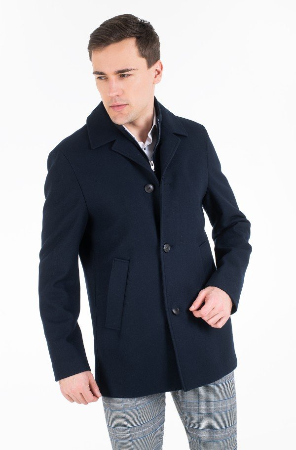 WOOL BLEND COAT WITH BIB