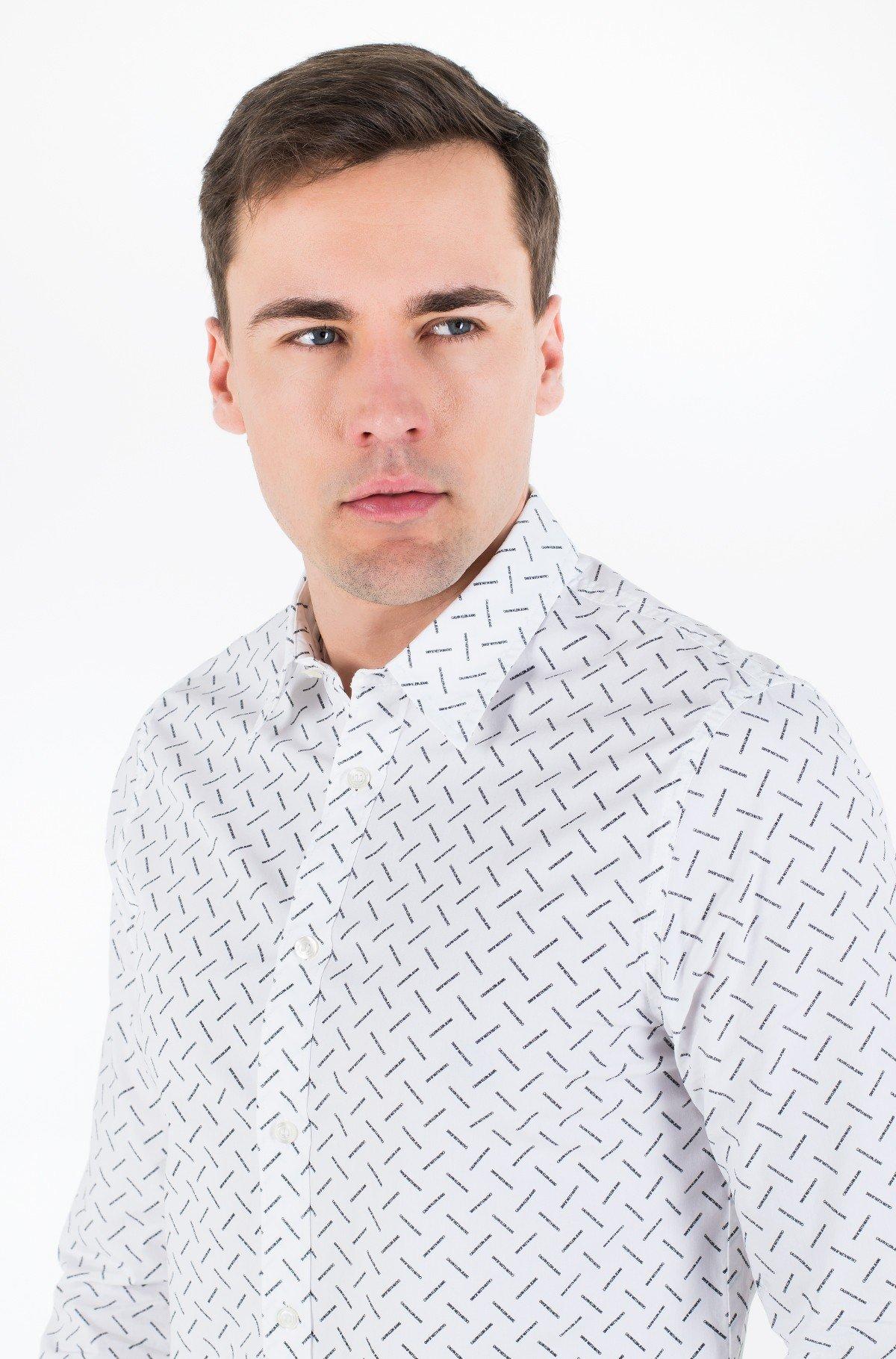 Marškiniai CK LOGO AOP SLIM STRETCH-full-2