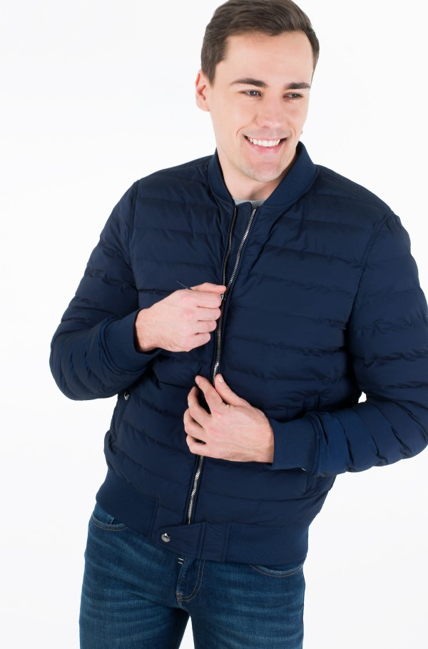 STITCHLESS QUILTED BOMBER-hover