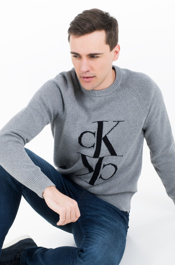 MIRRORED MONOGRAM CN SWEATER