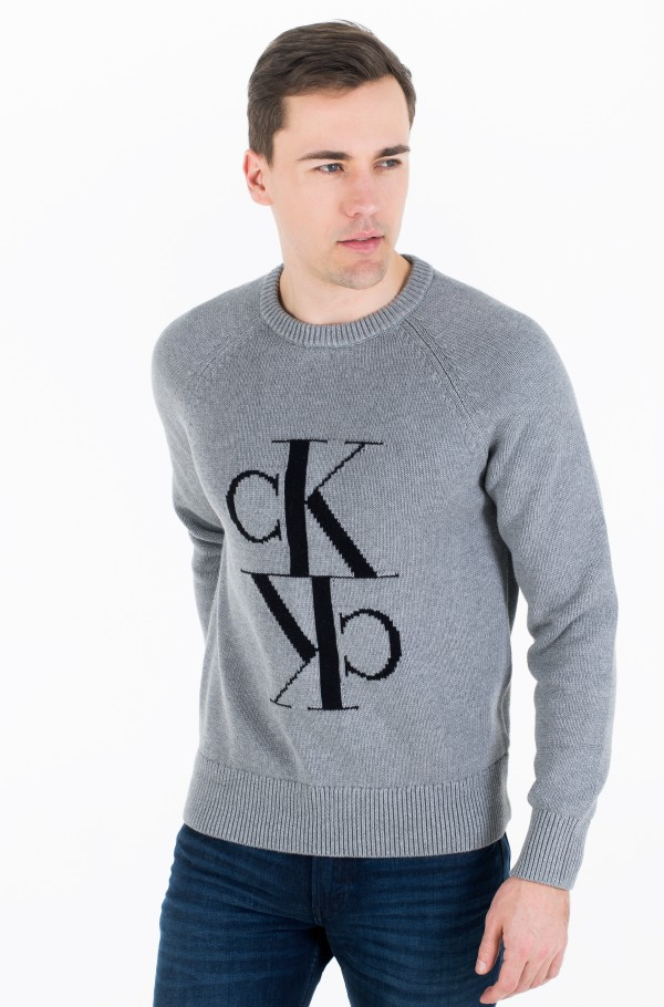 MIRRORED MONOGRAM CN SWEATER-hover
