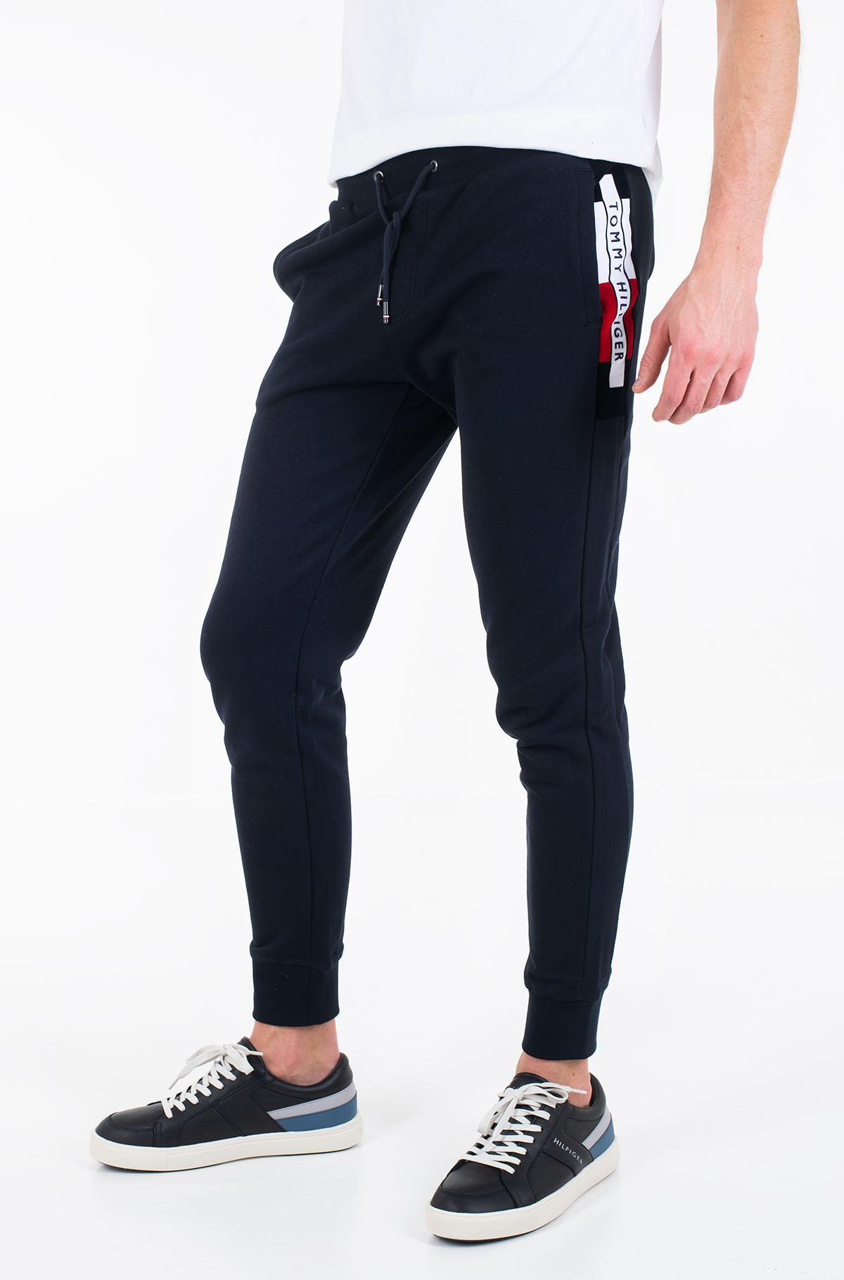 Sportinės kelnės FLOCKED HILFIGER SWEATPANTS-full-1