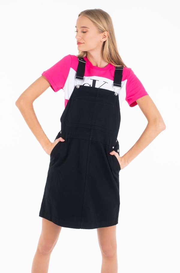 COTTON TWILL DUNGAREE DRESS