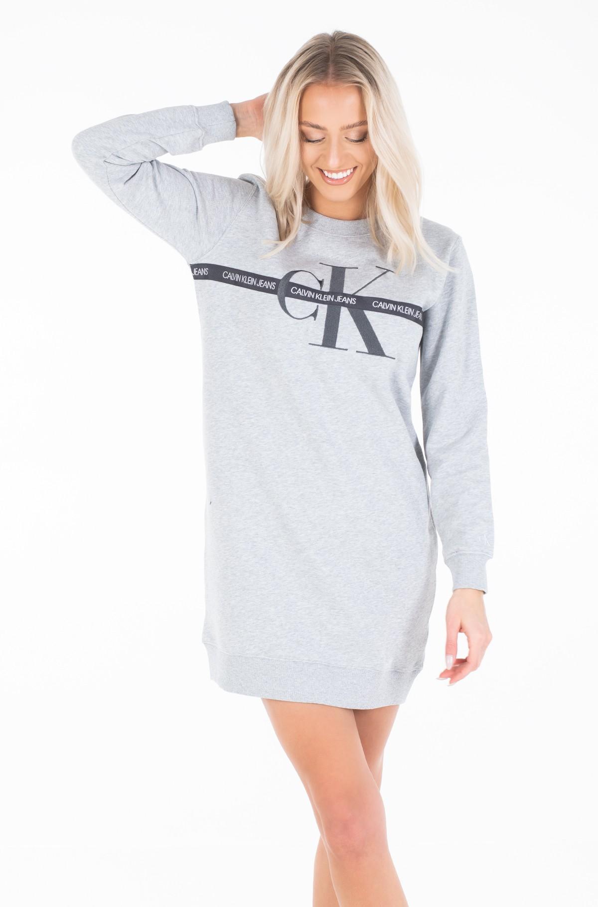 Sweatshirt dress TAPING THROUGH MONOGRAM DRESS-full-1