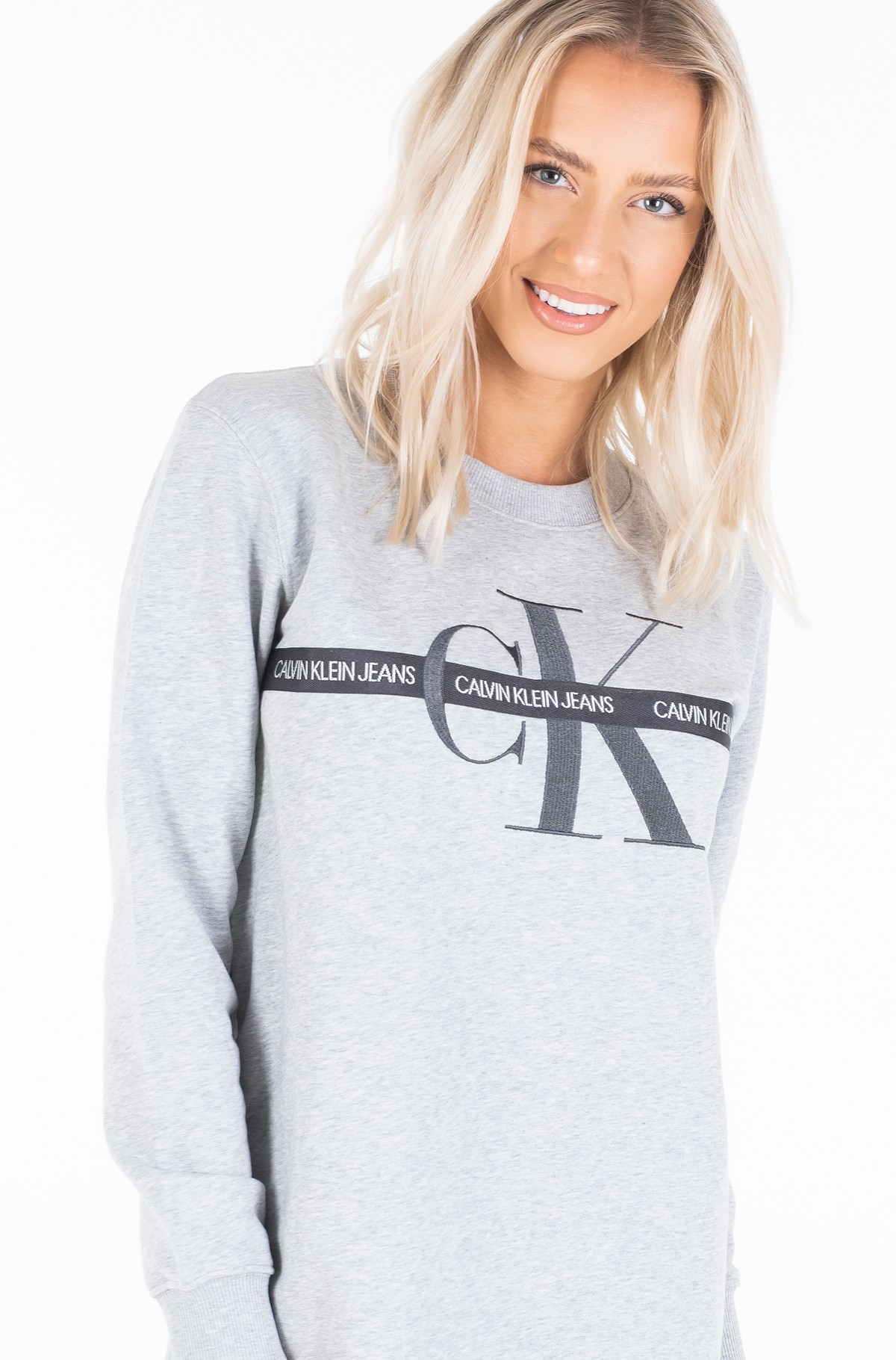 Sweatshirt dress TAPING THROUGH MONOGRAM DRESS-full-3