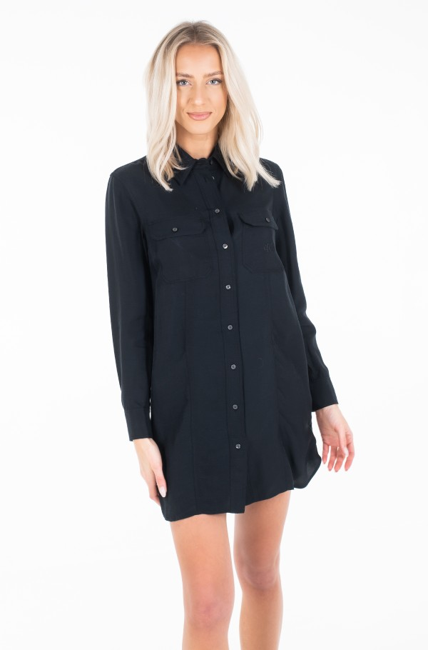 DRAPEY UTITLITY SHIRT DRESS-hover